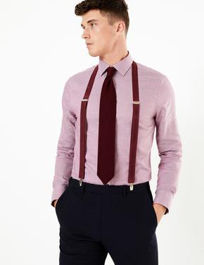 Erkek Mor Ayarlanabilir Slim Pantolon Askısı