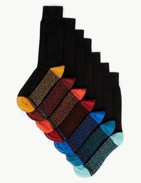 Cool & Freshfeet™ 7'liPamuklu Çorap Seti