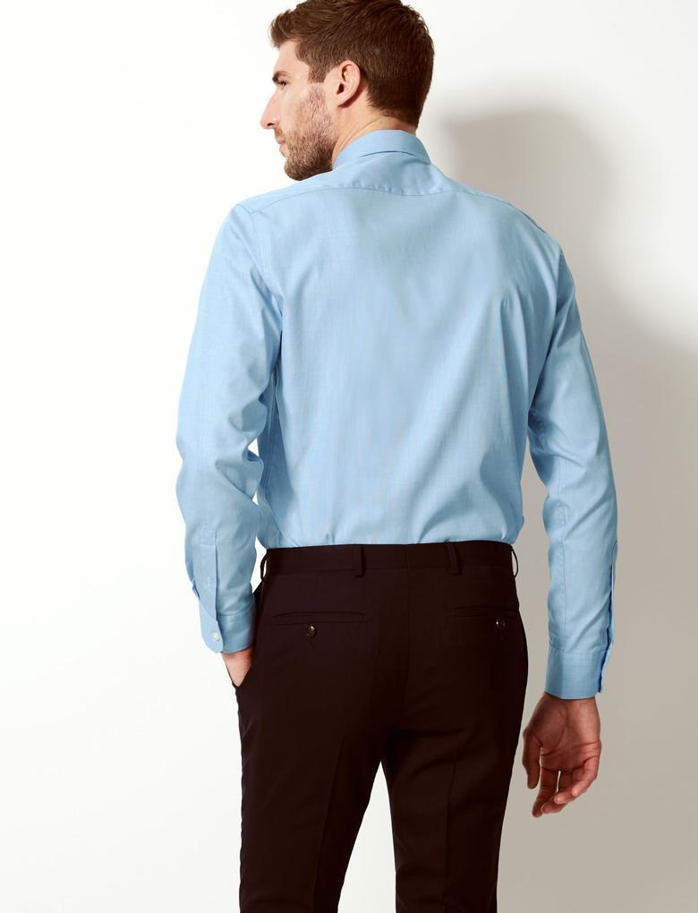Saf Pamuklu Tailored Fit Gömlek