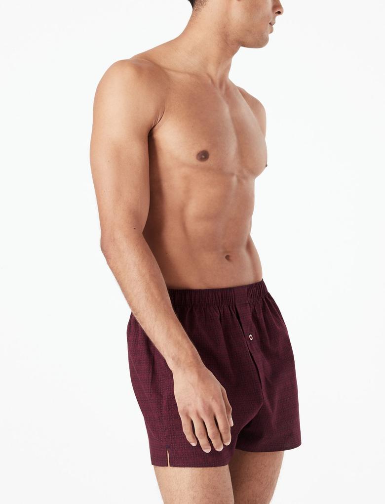 Erkek Multi Renk 3'lü Pamuklu Boxer Seti