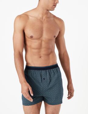 Erkek Multi Renk 3'lü Cool & Fresh™ Pamuklu Boxer Seti