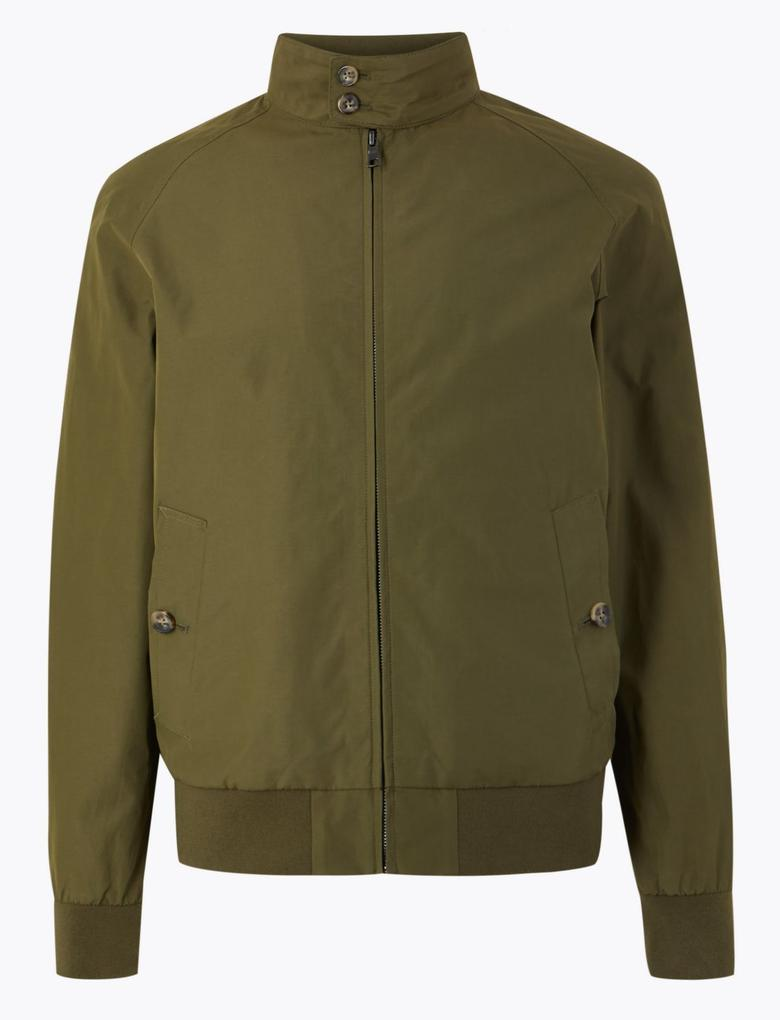 Erkek Yeşil Pamuk Karışımlı Ceket