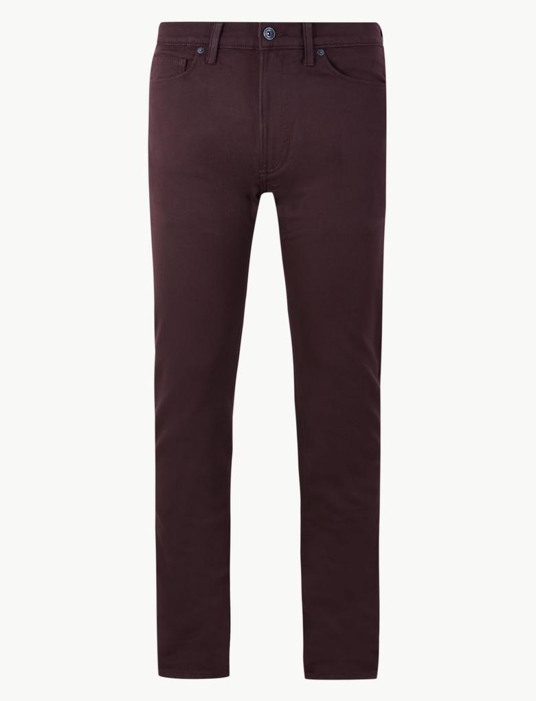 Pamuklu 5 Cepli Travel Jean Pantolon