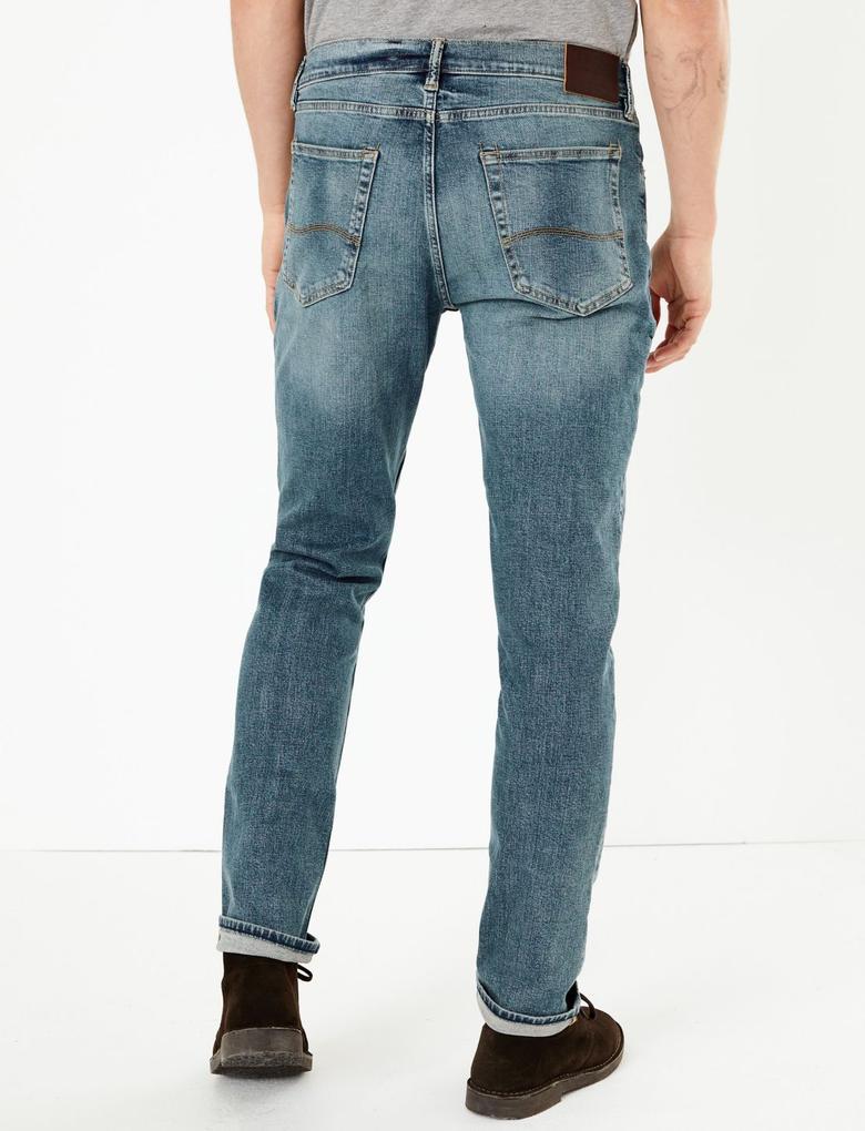 Eskitmeli Yıkamalı Skiny Jean Pantolon