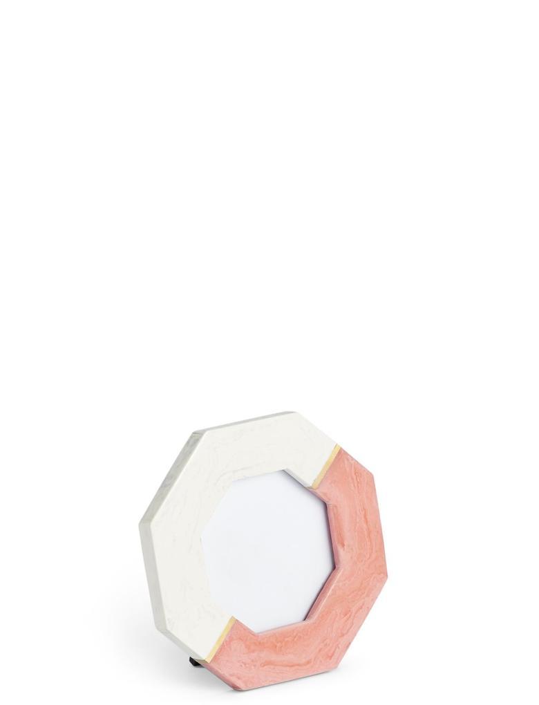Mermer Görünümlü Sekizgen  Fotoğraf Çerçevesi 10 x 10 cm