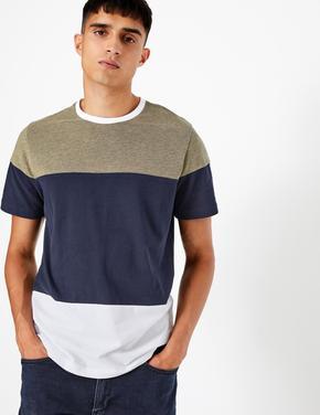 Saf Pamuklı Kısa Kollu T-shirt