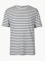 Saf Pamuklu Yuvarlak Yaka T-Shirt