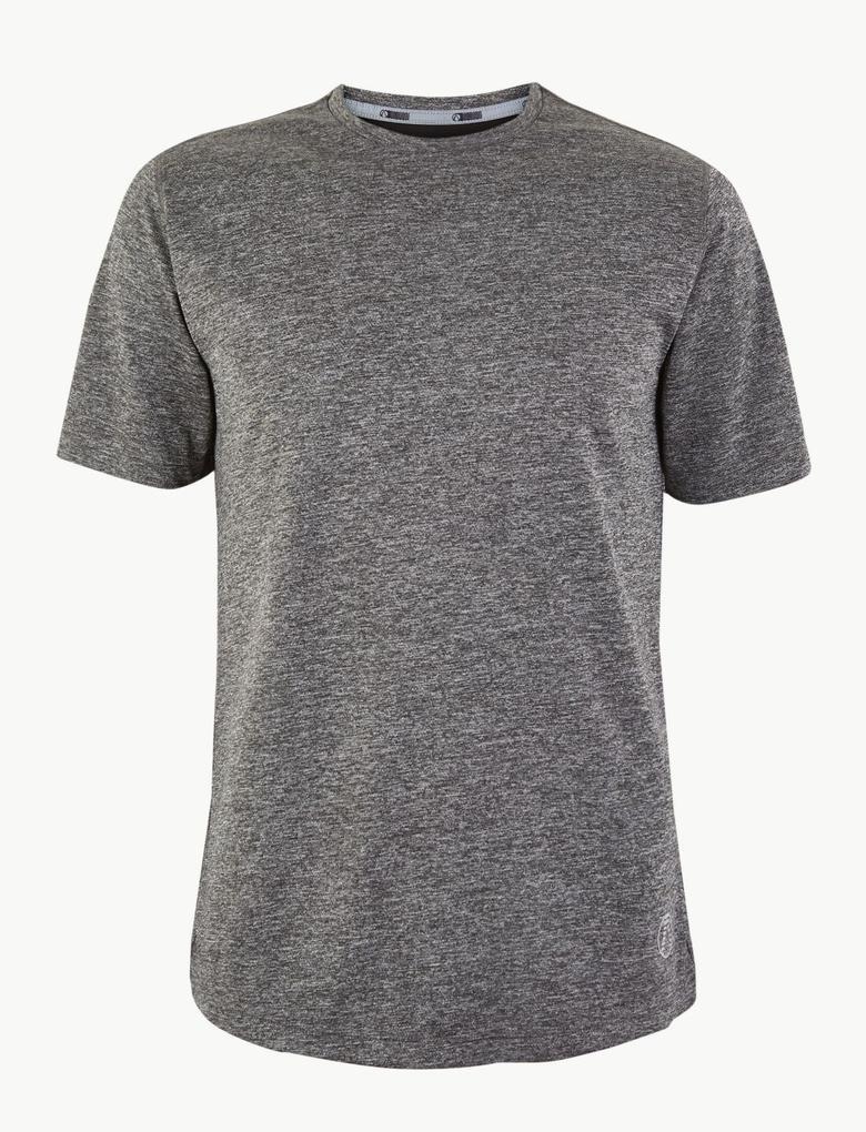 Erkek Gri Active Kısa Kollu T-Shirt