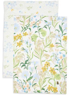 2'li Çiçek Desenli Kurulama Bezi