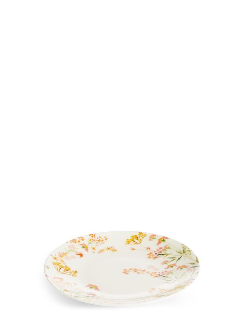 Multi Renk Çiçek Desenli Servis Tabağı