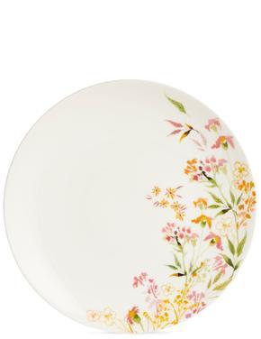 Çiçek Desenli Yemek Tabağı