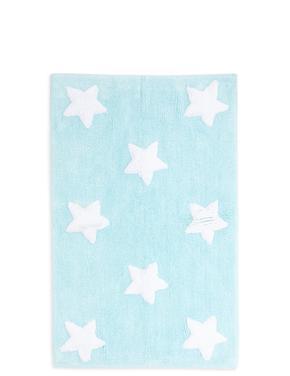 Pamuklu Yıldız  Desenli Banyo Paspası