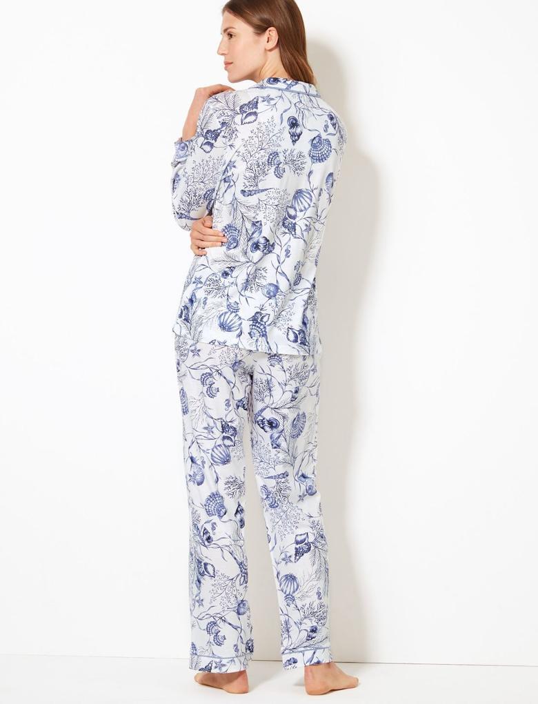 Cool Comfort™ Pamuk Modal Karışımlı Pijama Takımı