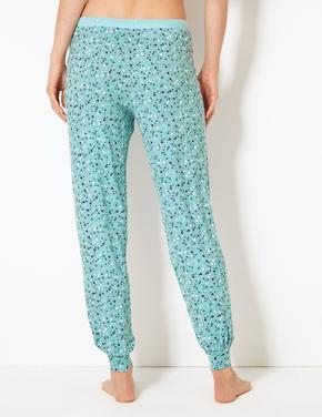Kalp Desenli Pijama Altı