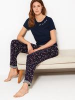 Kadın Lacivert Yıldız Desenli Pijama Altı