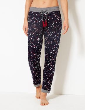 Yıldız Desenli Pijama Altı