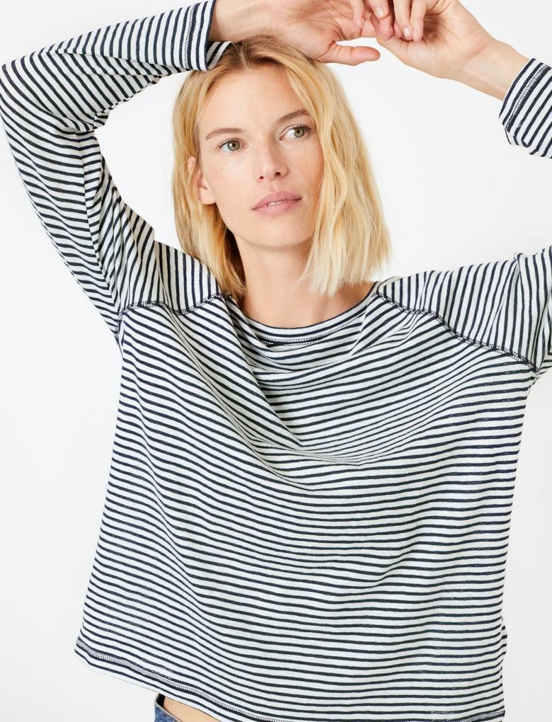 Pamuklu Uzun Kollu Regular Fit T-shirt