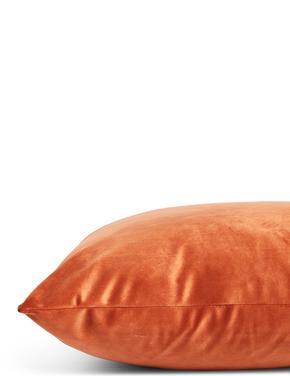 Ev Kahverengi Kadife Yastık