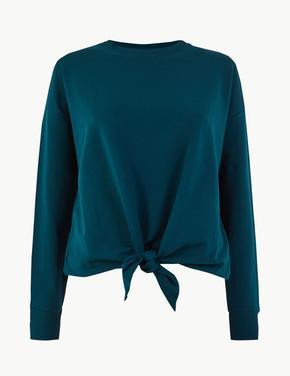 Pamuklu Düğüm Detaylı Sweatshirt