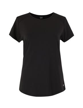 Kadın Siyah Yuvarlak Yaka T-shirt