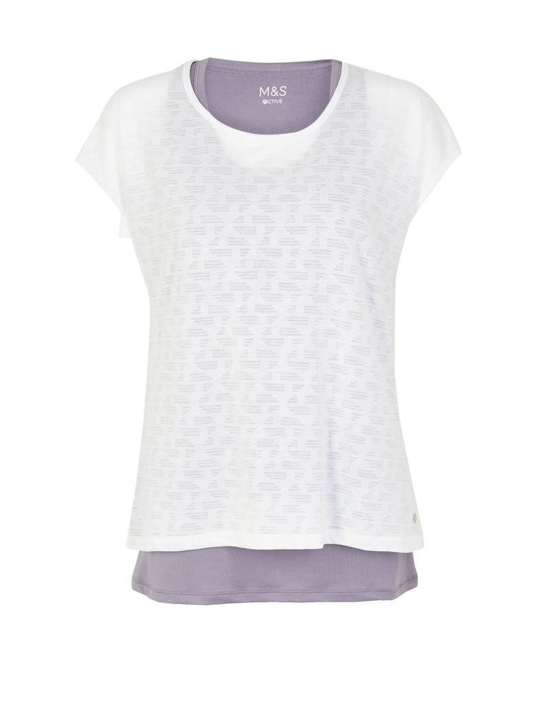 Mor 2'li Kısa Kollu T-shirt
