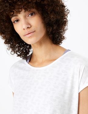 Kadın Mor 2'li Kısa Kollu T-shirt