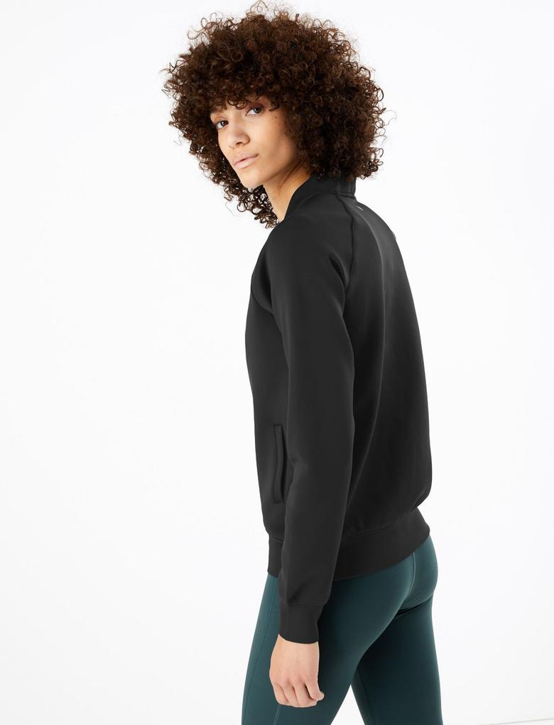 Kadın Siyah Bomber Ceket