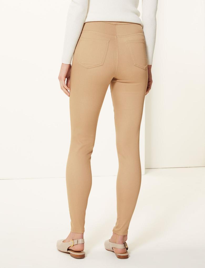 Yüksek Belli Jegging Pantolon