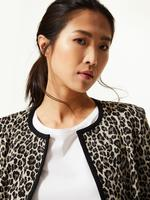 Kadın Siyah Leopar Desenli Blazer Ceket