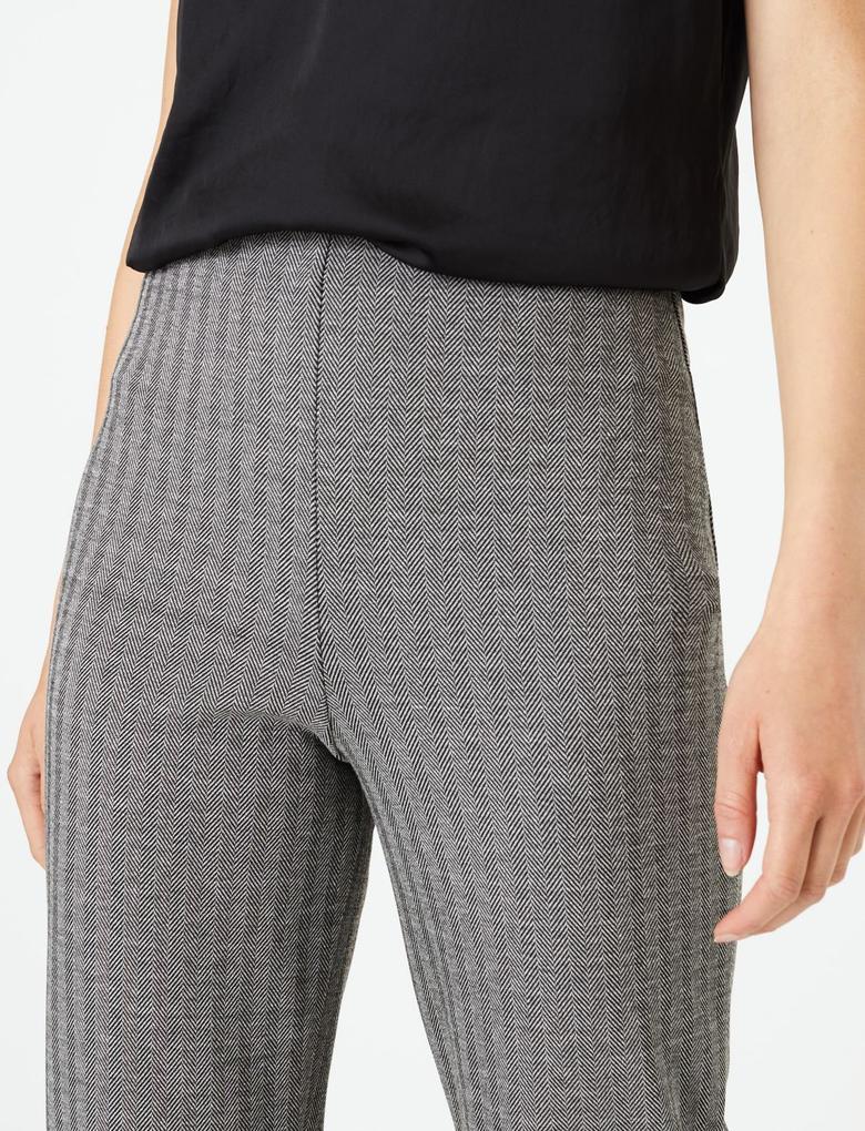 Kadın Siyah Jarse Straight Fit Pantolon