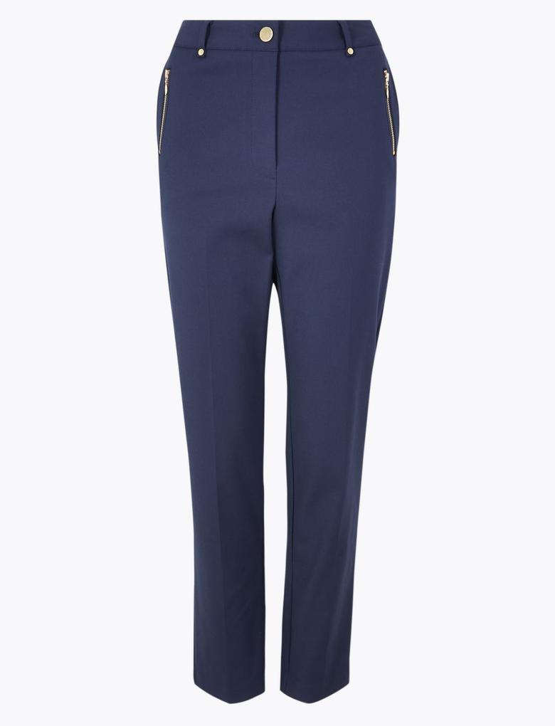 Kadın Lacivert Straight  Grazer Pantolon