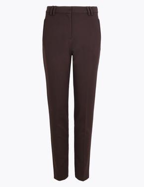 Kadın Kahverengi Slim Leg Pantolon