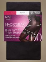Kadın Siyah 60 Denye Magicwear™ Opak Külotlu Çorap