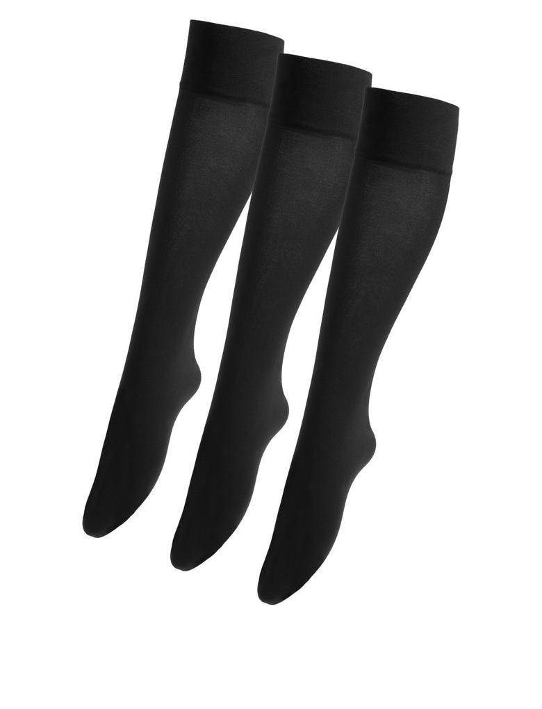 3'lü 40 Denye Opak Diz Altı Çorap Seti