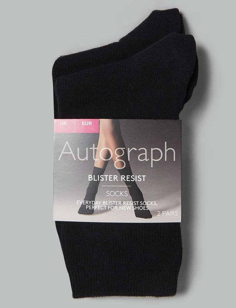 Kadın Siyah 2'li Soket Çorap Seti