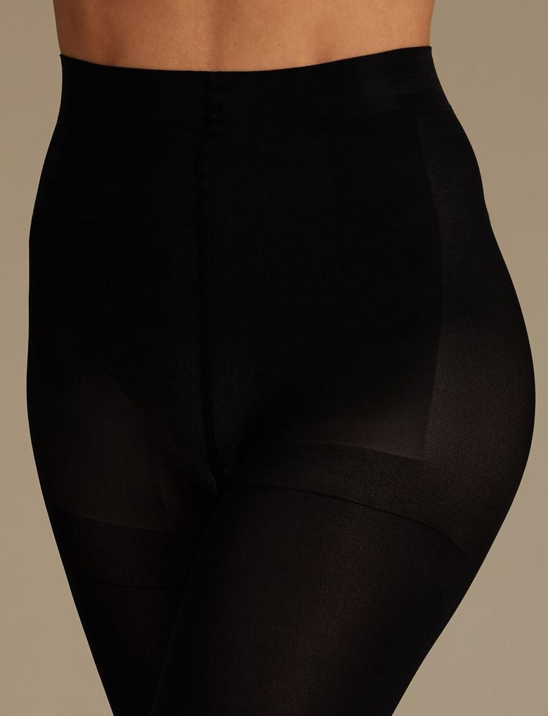 Kadın Siyah 30 Denye Magicwear™ Opak Külotlu Çorap