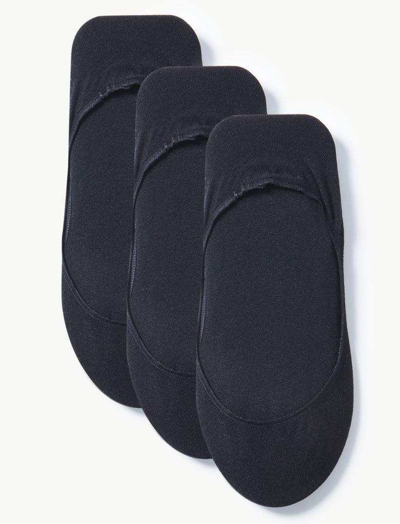 Kadın Siyah 3'lü Babet Çorabı Seti