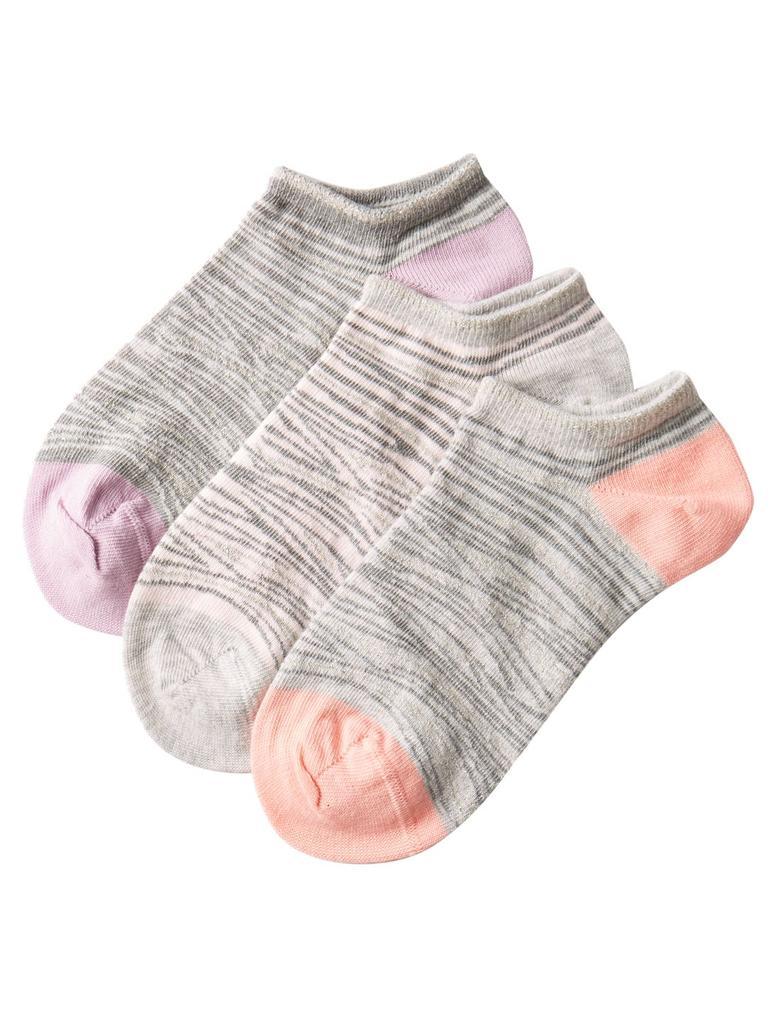 Gri 3'lü Leopar Desenli Çorap Seti