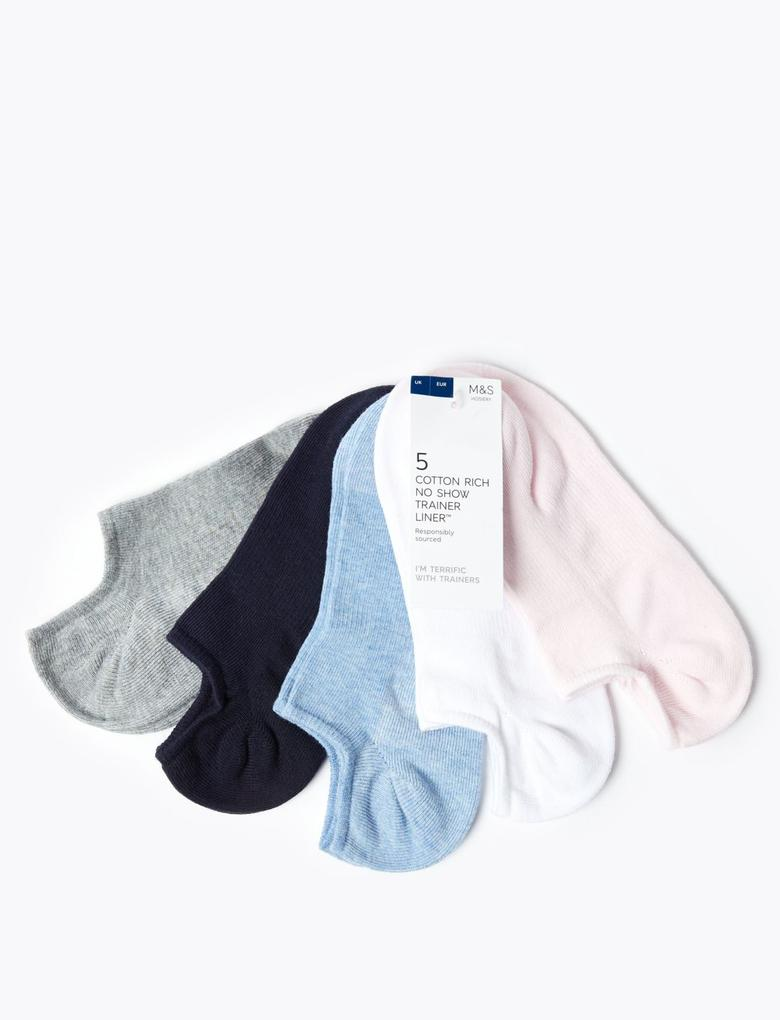 Kadın Mavi 5'li Çorap Seti