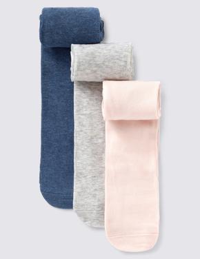 Çocuk Mavi 3'lü Pamuklu Bebek Külotlu Çorap Seti (0-24 Ay)