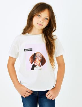 Köpek Baskılı T-shirt