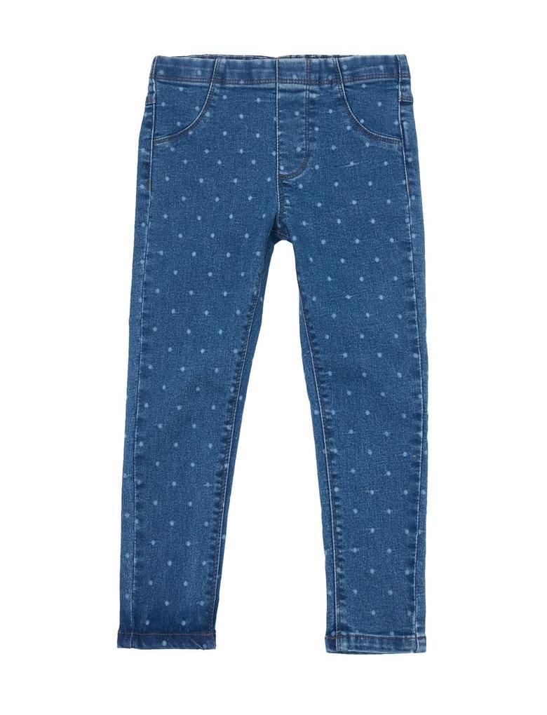 Kız Çocuk Mavi Puantiyeli Jegging Pantolon