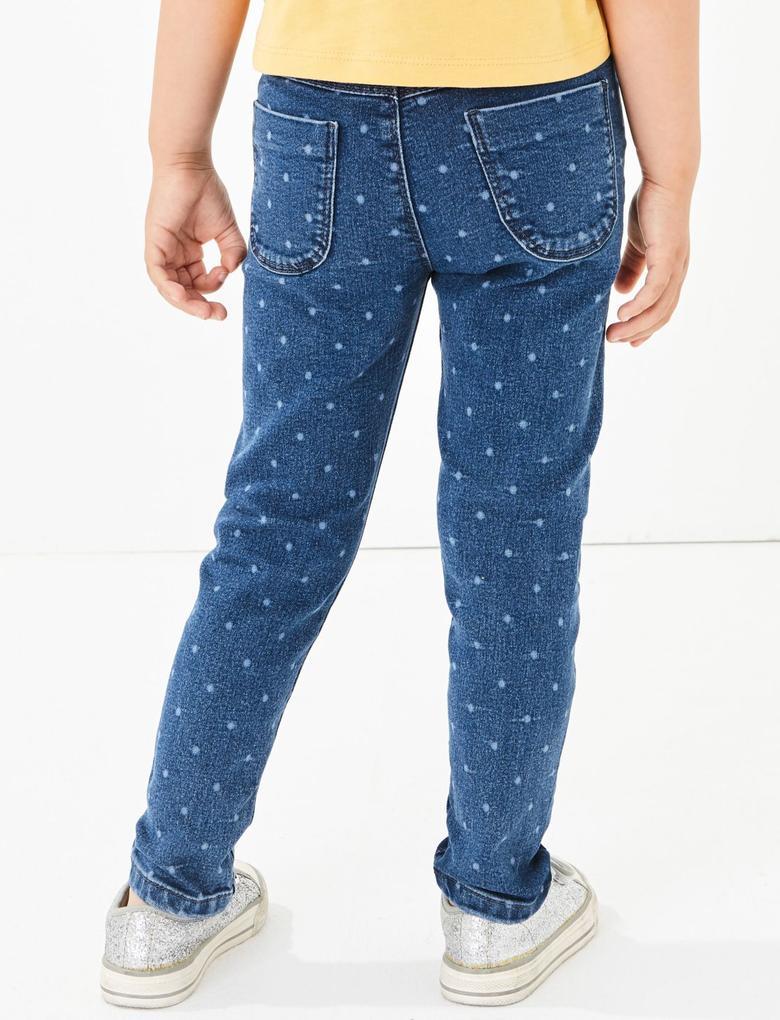 Puantiyeli Jegging Pantolon