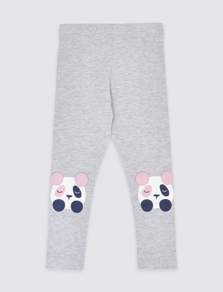 Panda Baskılı Tayt