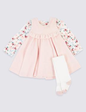 3 Parça Elbise Body ve Çorap Takımı