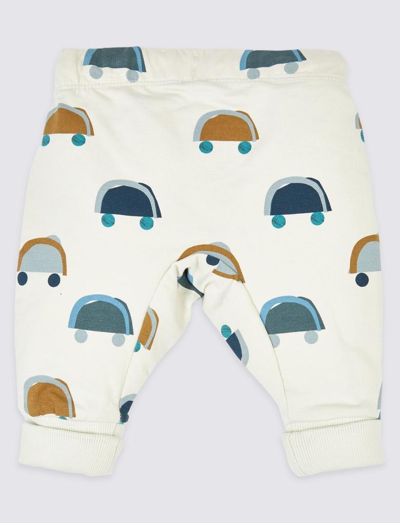 Bebek Bej Organik Pamuklu Jogger Pantolon