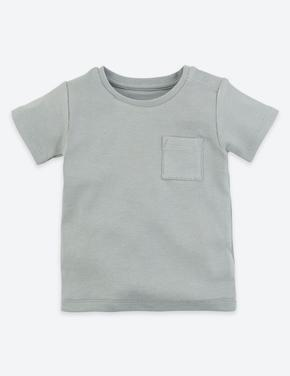 Bebek Mavi Organik Pamuklu T-shirt