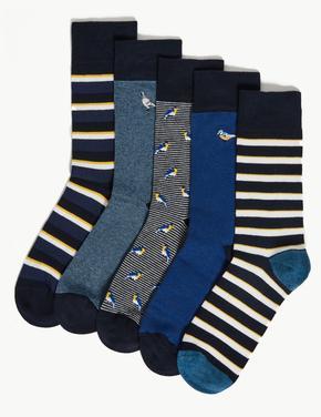 5'li Pamuklu Cool & Fresh™ Çorap Seti