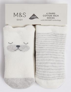 4'lü Bebek Çorabı Seti