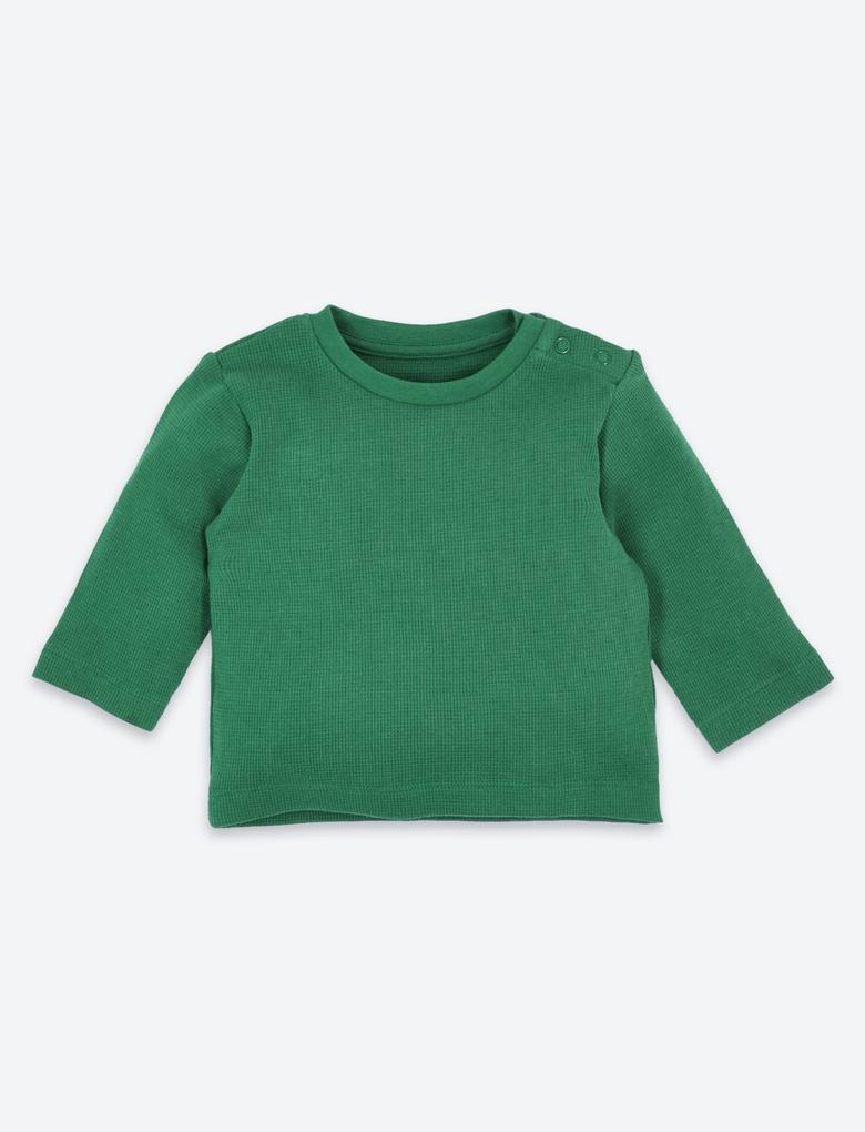 Bebek Mavi 4'lü Organik Pamuklu T-Shirt Seti